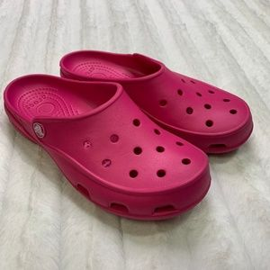 Pink Open Clogs